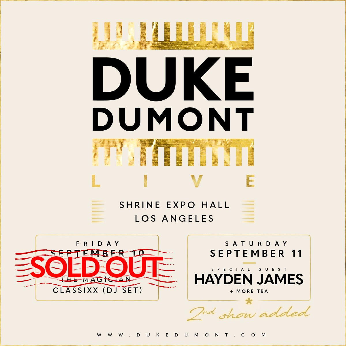 Duke Dumont Announces Return to The Shrine in Los Angeles with Two Headline Shows